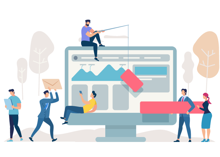 Website development banner vector