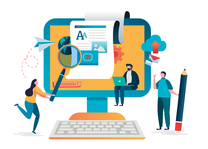 content writing banner vector