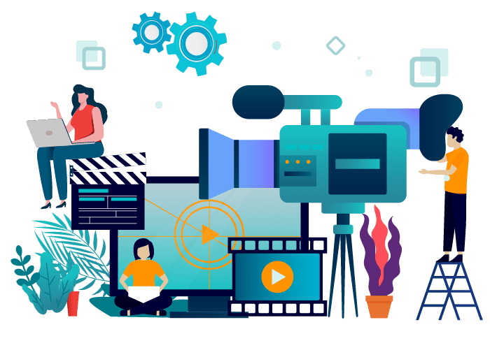 video production banner vector